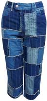 Jean Paul Gaultier Blue Cotton Jeans for Women Vintage