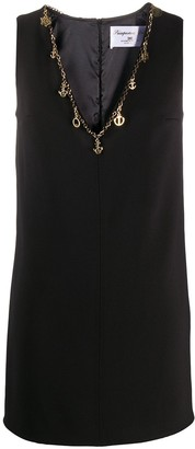 Elisabetta Franchi chain trim V-neck dress