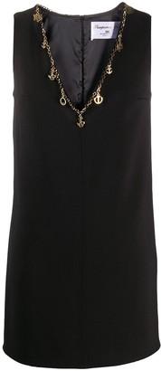 Elisabetta Franchi chain trim V-neck dress