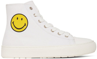 Joshua Sanders White Smiley Edition High-Top Sneakers