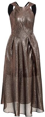 Roland Mouret Baldry Textured Lurex Halterneck Dress