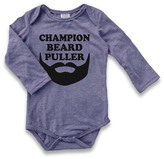 Urban Smalls Heather Blue 'Champion Beard Puller' Bodysuit - Infant