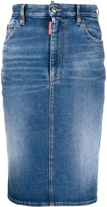DSQUARED2 Mid-Length Pencil Denim Skirt