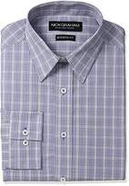 Nick Graham Men's Plaid Cotton Dress Shirt