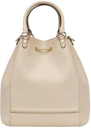 Fendi Beige Leather Bucket Bag