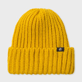 Paul Smith Men's Mustard British Wool Beanie Hat