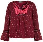 Abercrombie & Fitch EMBROIDERED SHINE Blouse burg grounded floral