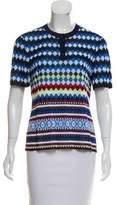Mary Katrantzou Short Sleeve Knit Top