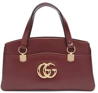 Gucci Arli Leather Bag - Womens - Burgundy