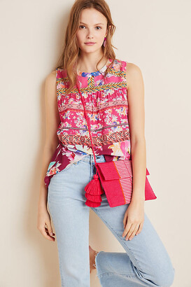 Vineet Bahl Roderiga Embroidered Blouse By in Pink Size XS P