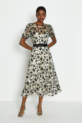 Coast Floral Embroidered Midi Dress