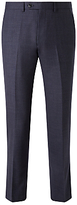 John Lewis Melange Super 100s Wool Tailored Suit Trousers, Blue