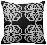 Starings Home Office Pillow Case Cushion Cover Moroccan Damask Black Pillow Cover