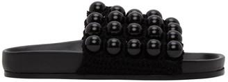 Jil Sander Black Ball Slides