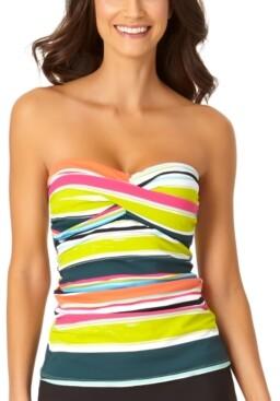 Anne Cole Twist Bandeau Tankini Top Women's Swimsuit
