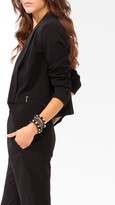 Forever 21 Contemporary Shawl Collar Cutaway Blazer
