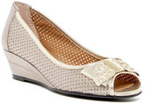 J. Renee Dovehouse Perforated Peep Toe Wedge - Wide Width Available