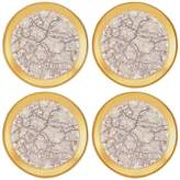 Michael Wainwright Tempio Luna Gold Canape Plate, Set of 4