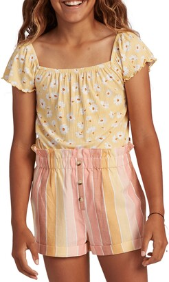 Billabong Kids' It's All Daisy Rib Top