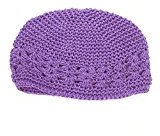 Binmer(TM) Toddlers Infant Baby Girl Flower Hollow Out Hat Headwear Hat (Purple)