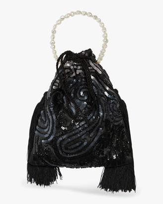 Lizzie Fortunato Deco Sequins Gala Wristlet