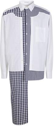 J.W.Anderson Double Layer Gingham Patchwork Shirt