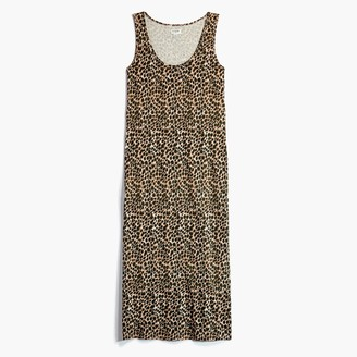 J.Crew Animal-print sleeveless knit midi dress