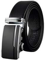 Boshiho Men's Genuine Leather Ratchet Belt Automatic Buckle - Adjustable Belt