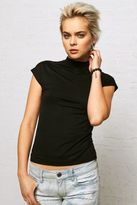 American Eagle Outfitters Don't Ask Why Fitted Mock Neck T-Shirt