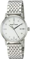 Maurice Lacroix Women's 'Eliros' Swiss Quartz Stainless Steel Casual Watch, Color:Silver-Toned (Model: EL1094-SS002-150-1)