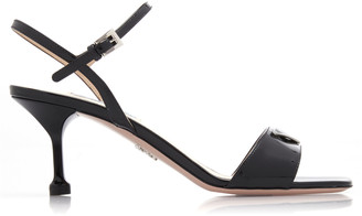 Prada AppliquAd Patent Leather Sandals