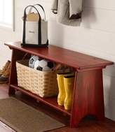 L.L. Bean Rustic Wooden Mudroom Bench, Large