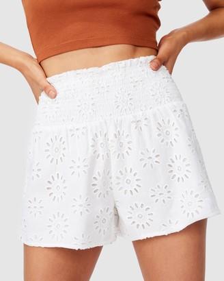 Cotton On Bridie Broderie Shorts