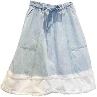Ulla Johnson Blue Denim - Jeans Skirt for Women