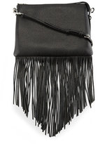 Rebecca Minkoff Jon Leather Fringe Crossbody Bag, Black