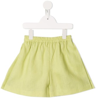 Little Bambah Elasticated-Waistband Linen Shorts