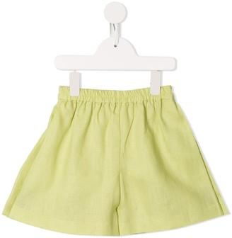 Little Bambah Elasticated-Waistband Linen Shorts