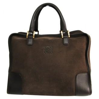Loewe Amazona Brown Suede Handbags