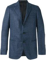 Caruso buttoned blazer - men - Silk/Cashmere/Linen/Flax/Cupro - 48