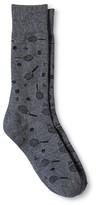 Merona Men's Racquet Socks Charcoal