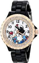 EWatchFactory Disney Women's W001000 Snow White Black Enamel Watch