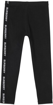 Burberry Logo Bands Cotton Jersey Leggings