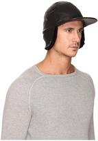 UGG Leather Baseball Hat w/ Sheepskin Trim