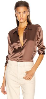 L'Agence Dani 3/4 Sleeve Blouse in Sparrow | FWRD