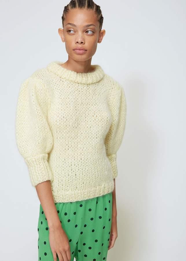 Ganni Julliard Mohair Bell Sleeve Knit