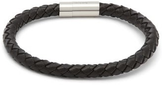 Paul Smith Braided-leather Bracelet - Mens - Black