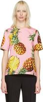Dolce & Gabbana Pink Pineapple Blouse