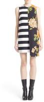 MSGM Women's Asymmetrical Stripe & Floral Print Dress