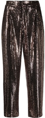 Pt01 Daisy embellished cropped trousers