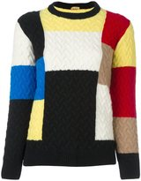 Peter Jensen patchwork cable knit jumper
